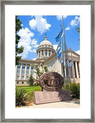 You're Doin' Fine Oklahoma Framed Print by Ricky Barnard