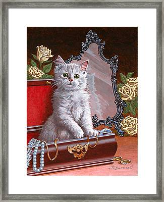 You're Home Early Framed Print by Richard De Wolfe