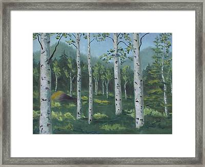You're Invited To My Aspen Forest Framed Print by Zanobia Shalks