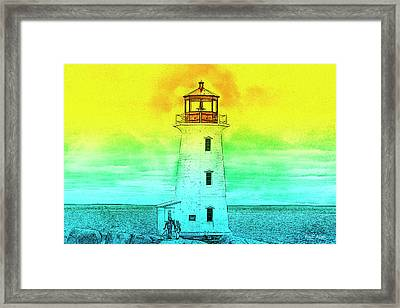 You're My Beacon Peggy's Cove Lighthouse Framed Print