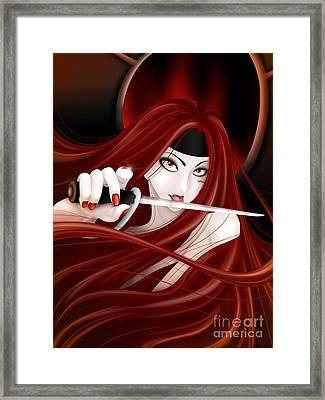 You're Next Framed Print by Sandra Hoefer