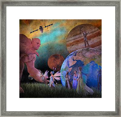 You're Safe In My Hands Framed Print by Betsy Knapp