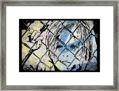 Youth Behind The Fence Framed Print by Nicole Frischlich