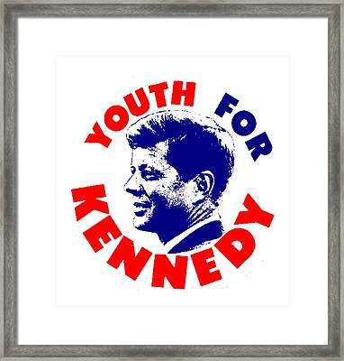 Youth For Kennedy Framed Print