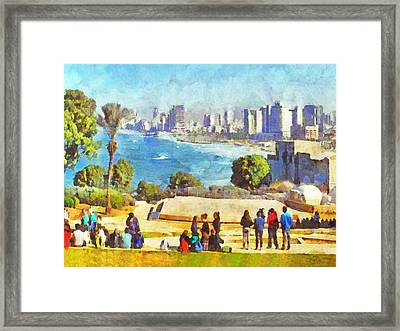 Youth Groups In Tel Aviv Framed Print