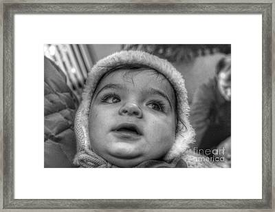 Youth In A Fleece Lined Cap Framed Print