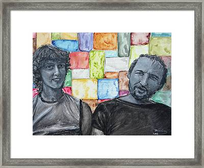 Youth In The 80's Framed Print by Viktoria Tormassy