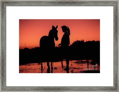 Framed Print featuring the photograph Youth by Jim and Emily Bush