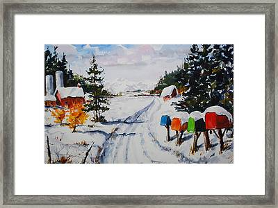 You've Got Mail Framed Print by Wilfred McOstrich