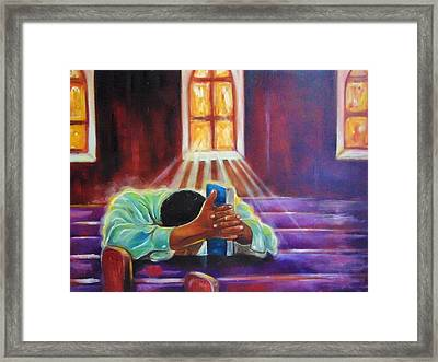 Yes      God  Framed Print