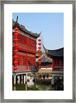 Yu Gardens - A Classic Chinese Garden In Shanghai Framed Print by Christine Till