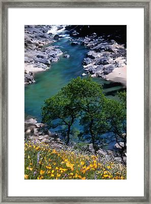 Yuba River In Spring Framed Print