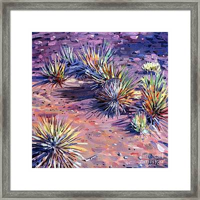 Yucca In Monument Valley Framed Print by Donald Maier