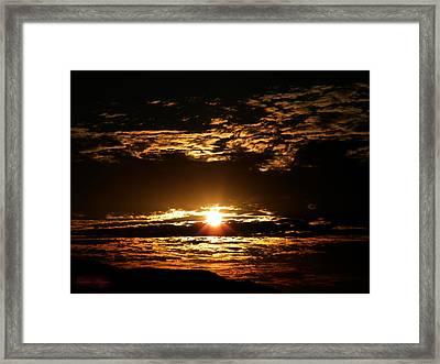 Yucca Valley Desert Sunrise Framed Print by Carlos Reyes