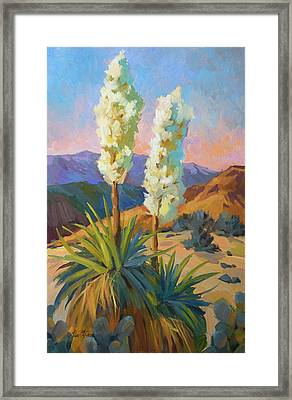Yuccas Framed Print by Diane McClary
