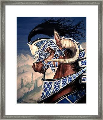 Framed Print featuring the painting Yuellas The Bulvaen Horse by Curtiss Shaffer