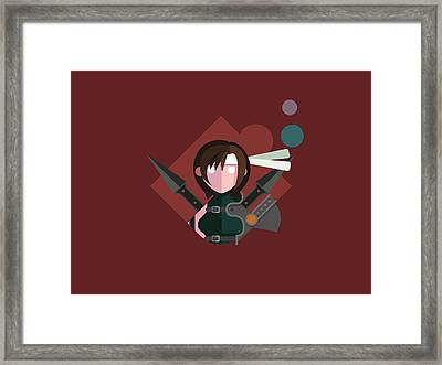 Framed Print featuring the digital art Yuffie by Michael Myers