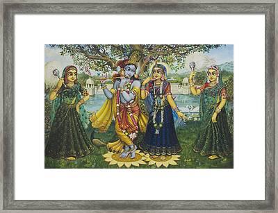 Yugal Kishor. Radha Krishna Framed Print