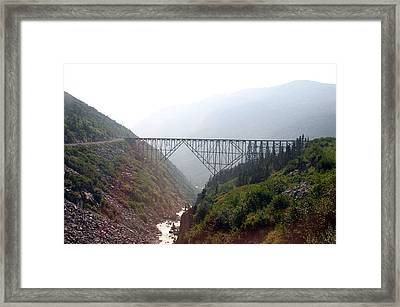 Framed Print featuring the photograph Yukon Railroad Bridge by Jack G  Brauer