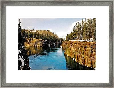 Yukon River And Miles Canyon - Whitehorse Framed Print