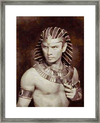 Yul Brynner, Actor Framed Print by Sarah Kirk
