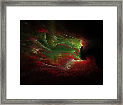 Yule-tide Phoenix Framed Print