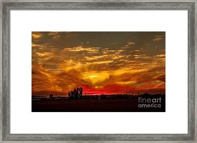 Yuma Sunset Framed Print