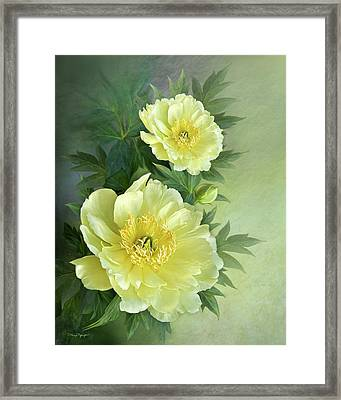 Framed Print featuring the digital art Yumi Itoh Peony by Thanh Thuy Nguyen