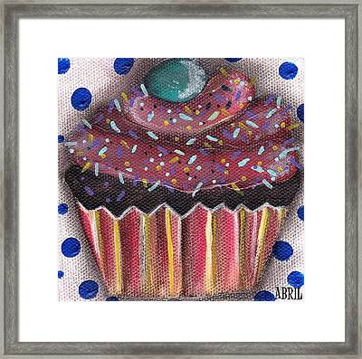 Yummy 5 Framed Print by  Abril Andrade Griffith