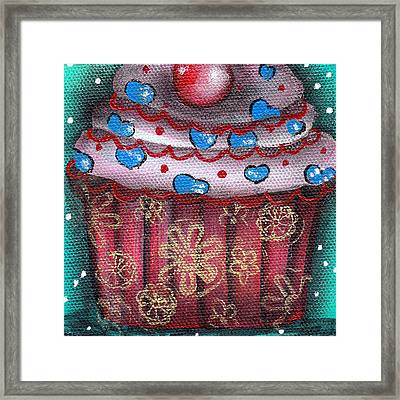 Yummy 8 Framed Print by  Abril Andrade Griffith