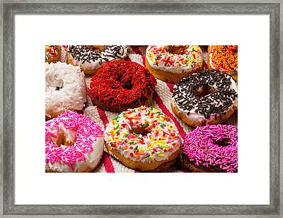Yummy Donuts Framed Print by Garry Gay