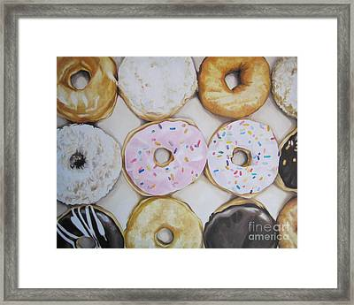 Yummy Donuts Framed Print by Jindra Noewi