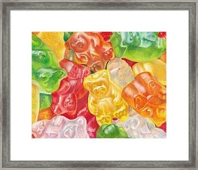 Yummy Gummies For Your Tummy Framed Print by Shana Rowe Jackson