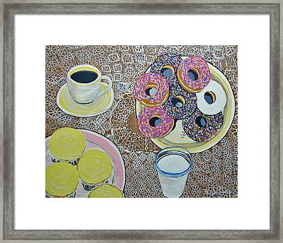 Yummy Framed Print by Norma Tolliver