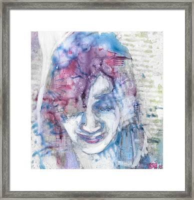 Yupo Portrait Framed Print by Vanessa Baladad