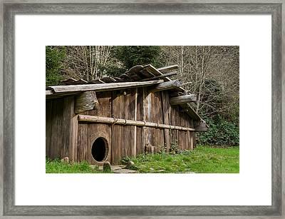 Yurok Housing Framed Print by Greg Nyquist
