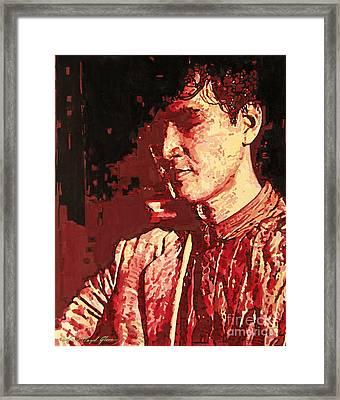 Yusaku Matsuda Framed Print by David Lloyd Glover