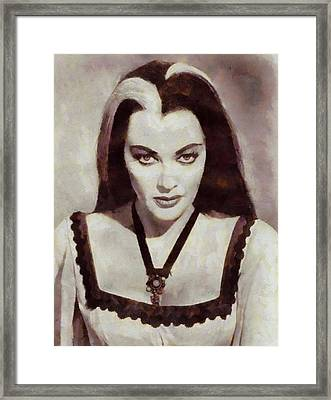 Yvonne De Carlo, Actress, Munsters Framed Print