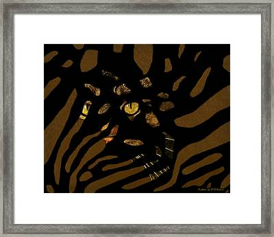 Z-cat Sees You Framed Print by Kathy M Krause