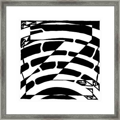 Z Maze Framed Print by Yonatan Frimer Maze Artist