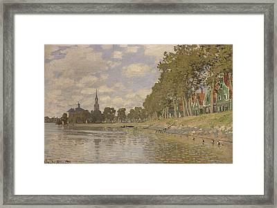 Zaandam Framed Print by Claude Monet