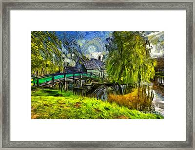 Zaanse Schans Framed Print by Eva Lechner