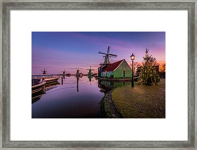 Zaanse Schans Holiday  Framed Print