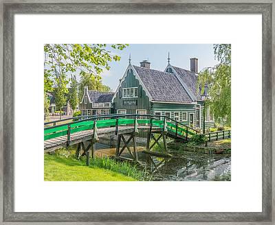 Zaanse Schans Village Framed Print