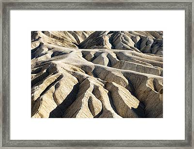 Zabriskie Point Badlands Framed Print