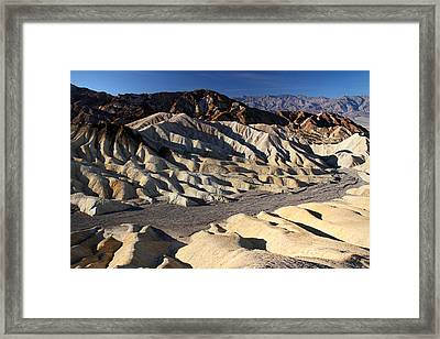 Zabriskie Point In Death Valley Framed Print by Pierre Leclerc Photography
