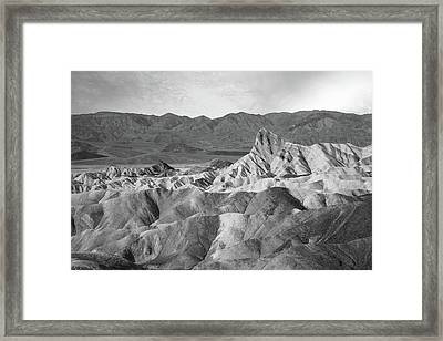 Zabriskie Point Landscape Framed Print