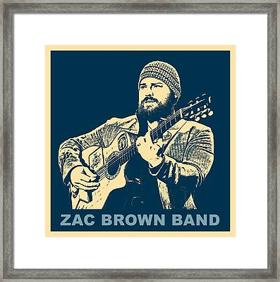 Zac Brown Band Poster Framed Print by Dan Sproul