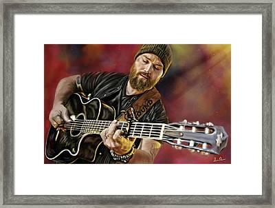 Zac Brown Framed Print