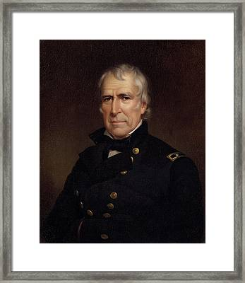 Zachary Taylor - Old Rough And Ready Framed Print